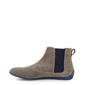 Sparco Misano Taupe Blue Shoes Ankle Boots in Suede Picture10: Misano ankle boot is made with nothing but comfort in mind, these stylish shoes by Sparco make the perfect addition to any outfit. Sparco Misano a sporty ankle boot made from Taupe suede, leather-lined and matched with a rubber sole. Pair Sparco Misano with tailored pants and a casual shirt for the weekend.