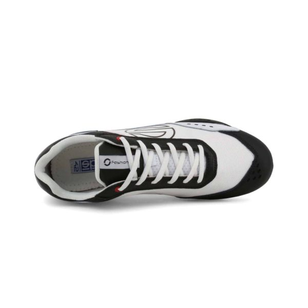 Sparco SP-F5 White/Black Shoes Sneakers in Leather Picture4: Designed for ultimate street durability and performance, Sparco SP-F5 White/Black Shoes is what you'd expect in a competition driving shoes. That is why these shoes/boots feature a thin sole for maximum pedal feel and control. The sole continues up the heel's back to provide a smooth and stable pivoting point for heel-toe shifting. Comfortable shoes/boots that can be used for everyday car and motorbike driving, touring, racing, karting and even sim racing.