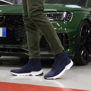 Sparco Monza-Lesmo Blue Shoes Sneakers in Suede Picture7: Designed for ultimate street durability and performance, Sparco Monza Blue Shoes is what you'd expect in a competition driving shoes. That is why these shoes/boots feature a high-quality sole for maximum pedal feel and control. Comfortable shoes/boots that can be used for everyday car and motorbike driving, touring, racing, karting and even sim racing.