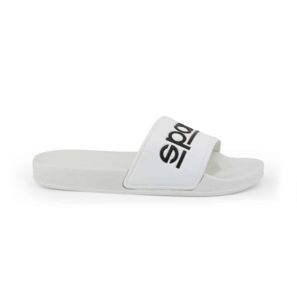 Sparco Slippers Fortaleza White Flip Flops Picture1: Sparco Fortaleza White Flip Flops can be used casually and will be a perfect companion as you go about your busy life or during sports/racing events.