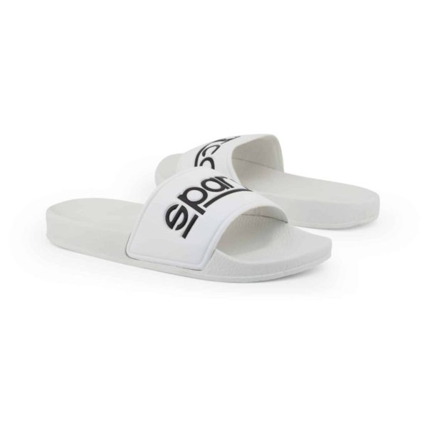 Sparco Slippers Fortaleza White Flip Flops Picture2: Sparco Fortaleza White Flip Flops can be used casually and will be a perfect companion as you go about your busy life or during sports/racing events.