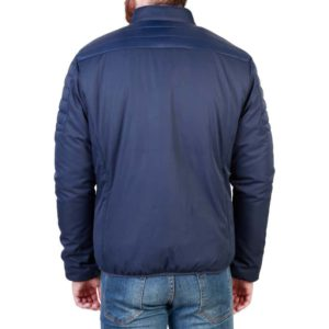 Sparco Bloomington Blue Jacket Picture5: Sparco Bloomington Jacket marked with Sparco logo; it comes in contrasting zip, 2 external pockets with snap button, ribbed waist and cuffs. Brilliant for casual outings and perfect companion as you go about your busy life or during sports and racing events.