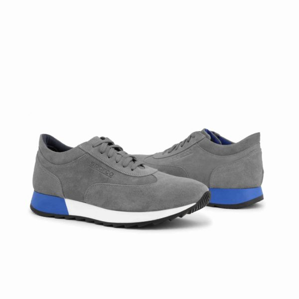 Sparco Imola-Run Grey Shoes Sneakers in Suede Picture3: Designed for ultimate street durability and performance, Sparco Imola Grey Shoes is what you'd expect in a competition driving shoes. These shoes feature a high-quality sole for leisure/casual use and would make great driving shoes. Comfortable and can be used for everyday car and motorbike driving, touring, racing, karting and even sim racing.