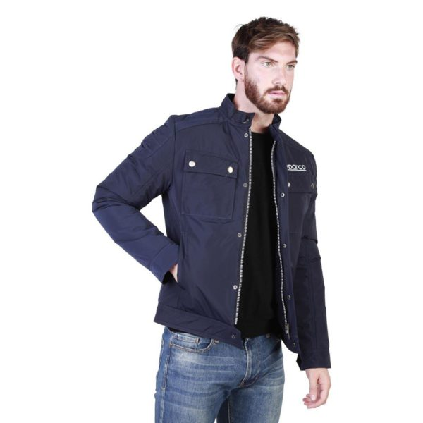 Sparco Berwick Blue Jacket Picture4: Stay warm this winter with Sparco collection of jackets for men, a great looking jacket for casual and sporty wear. Berwick jacket from Sparco will become a new wardrobe essential for you every winter, it creates a stylish and sporty look to any outfit.