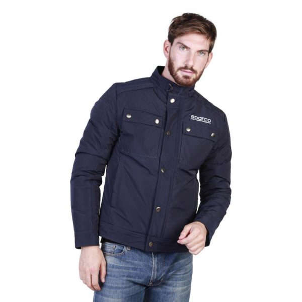 Sparco Berwick Blue Jacket Picture2: Stay warm this winter with Sparco collection of jackets for men, a great looking jacket for casual and sporty wear. Berwick jacket from Sparco will become a new wardrobe essential for you every winter, it creates a stylish and sporty look to any outfit.