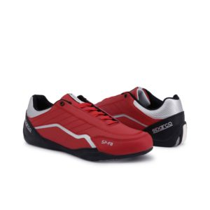 Sparco SP-F8 Red Shoes Sneakers Picture8: Designed for ultimate street durability and performance, Sparco SP-F8 Red Shoes is what you'd expect in a competition driving shoes. That is why these shoes/boots feature a thin sole for maximum pedal feel and control. The sole continues up the heel's back to provide a smooth and stable pivoting point for heel-toe shifting. Comfortable shoes/boots that can be used for everyday car and motorbike driving, touring, racing, karting and even sim racing.