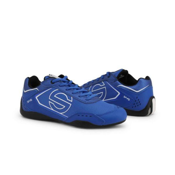 Sparco SP-F5 Blue Shoes Sneakers in Leather Picture3: Designed for ultimate street durability and performance, Sparco SP-F5 Blue Shoes is what you'd expect in a competition driving shoes. That is why these shoes/boots feature a thin sole for maximum pedal feel and control. The sole continues up the heel's back to provide a smooth and stable pivoting point for heel-toe shifting. Comfortable shoes/boots that can be used for everyday car and motorbike driving, touring, racing, karting and even sim racing.