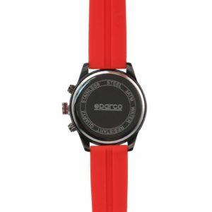Sparco Niki Red Watch Picture10: The sporty Niki watch from Sparco accompanies you in your everyday life by providing an inimitable racing touch to your look. This model from Sparco is designed to complement differing outfits from sportswear to casual wear. The sporty design with a durable Red strap is sure to impress.