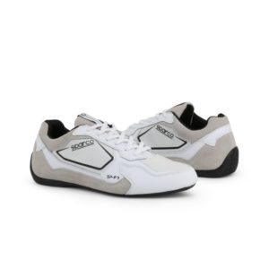 Sparco SP-F7 White/Black Shoes Sneakers Picture10: Designed for ultimate street durability and performance, Sparco SP-F7 White/Black Shoes is what you'd expect in a competition driving shoes. That is why these shoes/boots feature a thin sole for maximum pedal feel and control. The sole continues up the heel's back to provide a smooth and stable pivoting point for heel-toe shifting. Comfortable shoes/boots that can be used for everyday car and motorbike driving, touring, racing, karting and even sim racing.
