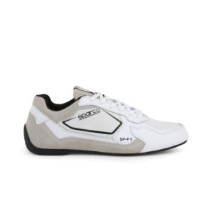 Sparco SP-F7 White/Black Shoes Sneakers Picture6: Designed for ultimate street durability and performance, Sparco SP-F7 White/Black Shoes is what you'd expect in a competition driving shoes. That is why these shoes/boots feature a thin sole for maximum pedal feel and control. The sole continues up the heel's back to provide a smooth and stable pivoting point for heel-toe shifting. Comfortable shoes/boots that can be used for everyday car and motorbike driving, touring, racing, karting and even sim racing.