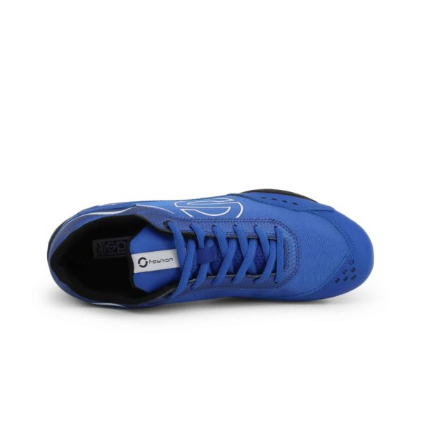 Sparco SP-F5 Blue Shoes Sneakers in Leather Picture4: Designed for ultimate street durability and performance, Sparco SP-F5 Blue Shoes is what you'd expect in a competition driving shoes. That is why these shoes/boots feature a thin sole for maximum pedal feel and control. The sole continues up the heel's back to provide a smooth and stable pivoting point for heel-toe shifting. Comfortable shoes/boots that can be used for everyday car and motorbike driving, touring, racing, karting and even sim racing.
