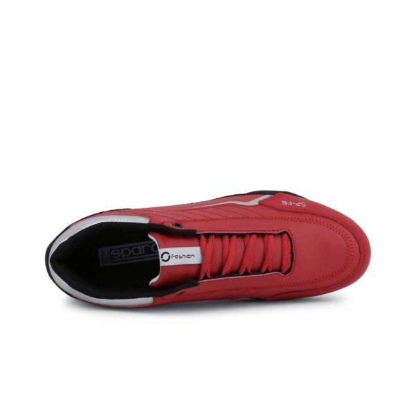 Sparco SP-F8 Red Shoes Sneakers Picture4: Designed for ultimate street durability and performance, Sparco SP-F8 Red Shoes is what you'd expect in a competition driving shoes. That is why these shoes/boots feature a thin sole for maximum pedal feel and control. The sole continues up the heel's back to provide a smooth and stable pivoting point for heel-toe shifting. Comfortable shoes/boots that can be used for everyday car and motorbike driving, touring, racing, karting and even sim racing.