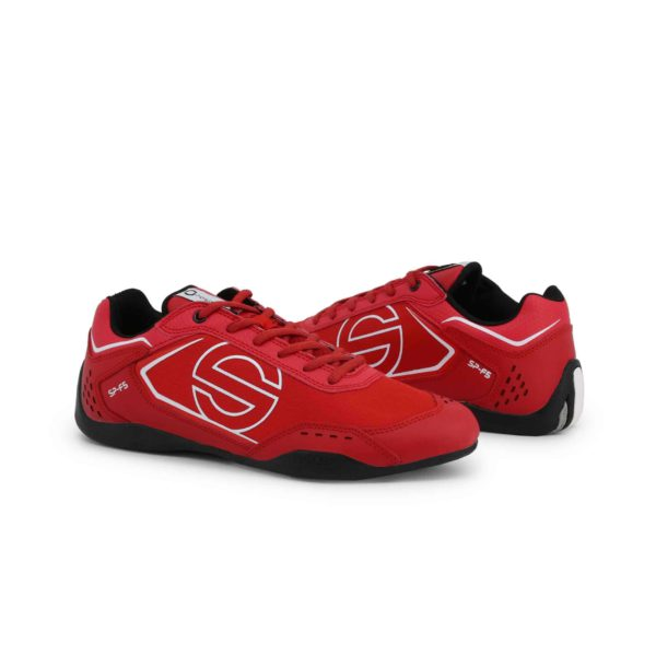 Sparco SP-F5 Red Shoes Sneakers in Leather Picture3: Designed for ultimate street durability and performance, Sparco SP-F5 Red Shoes is what you'd expect in a competition driving shoes. That is why these shoes/boots feature a thin sole for maximum pedal feel and control. The sole continues up the heel's back to provide a smooth and stable pivoting point for heel-toe shifting. Comfortable shoes/boots that can be used for everyday car and motorbike driving, touring, racing, karting and even sim racing.