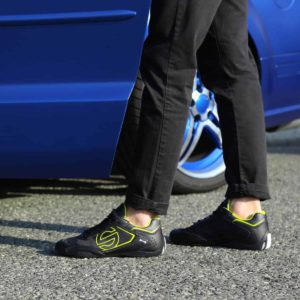 Sparco SP-F5 Black Shoes Sneakers in Leather Picture7: Designed for ultimate street durability and performance, Sparco SP-F5 Black Shoes is what you'd expect in a competition driving shoes. That is why these shoes/boots feature a thin sole for maximum pedal feel and control. The sole continues up the heel's back to provide a smooth and stable pivoting point for heel-toe shifting. Comfortable shoes/boots that can be used for everyday car and motorbike driving, touring, racing, karting and even sim racing.