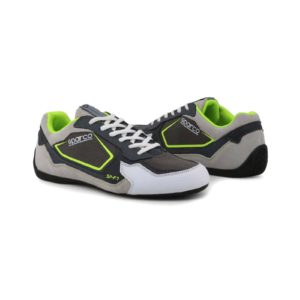 Sparco SP-F7 Grey/Green Shoes Sneakers Picture8: Designed for ultimate street durability and performance, Sparco SP-F7 Grey/Green Shoes is what you'd expect in a competition driving shoes. That is why these shoes/boots feature a thin sole for maximum pedal feel and control. The sole continues up the heel's back to provide a smooth and stable pivoting point for heel-toe shifting. Comfortable shoes/boots that can be used for everyday car and motorbike driving, touring, racing, karting and even sim racing.